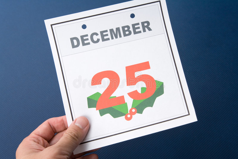 Natal do dia de calendário foto de stock royalty free