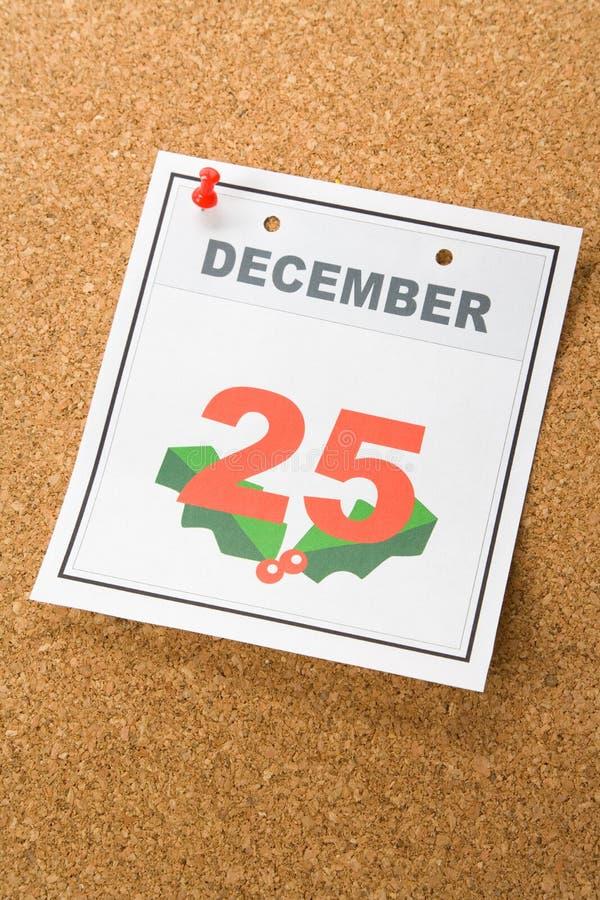 Natal do dia de calendário fotografia de stock royalty free