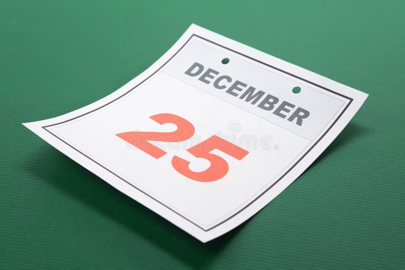 Natal do dia de calendário imagem de stock royalty free