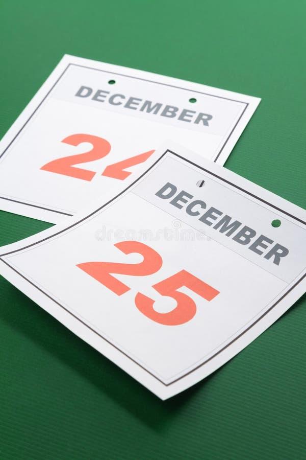 Natal do dia de calendário foto de stock
