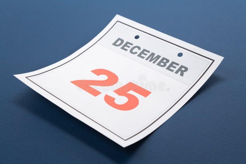 Natal do dia de calendário fotografia de stock