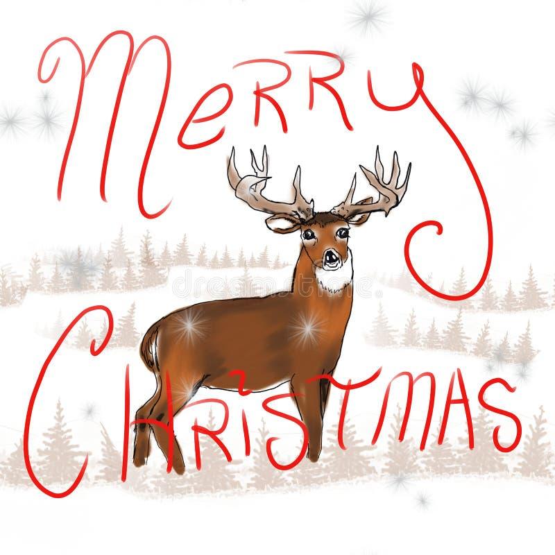 Natal do fanfarrão do Whitetail ilustração do vetor