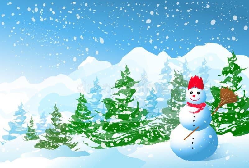 Natal do inverno ilustração stock