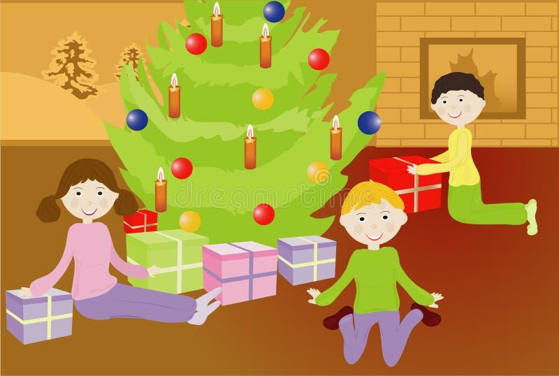 Natal do miúdo fotos de stock