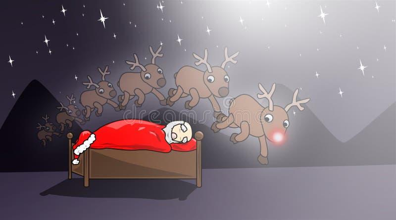 Natal-doce-sonhos ilustração stock