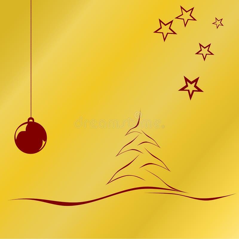Natal dourado ilustração do vetor