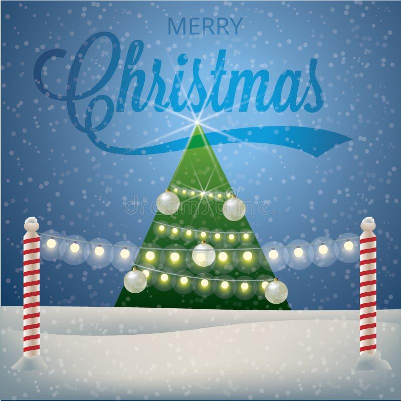 Natal e ano novo ilustração do vetor