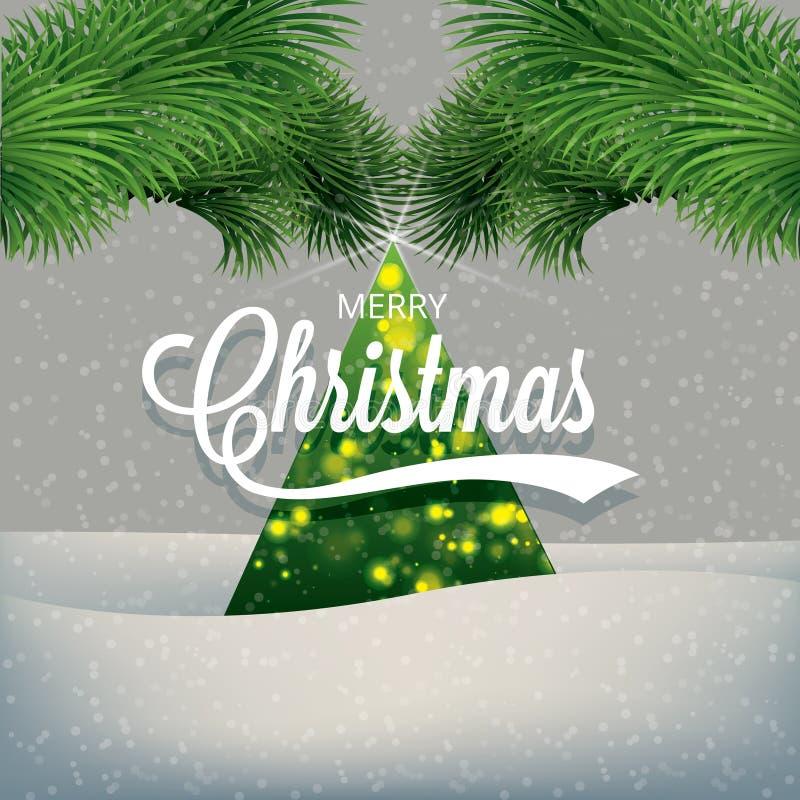 Natal e ano novo ilustração royalty free