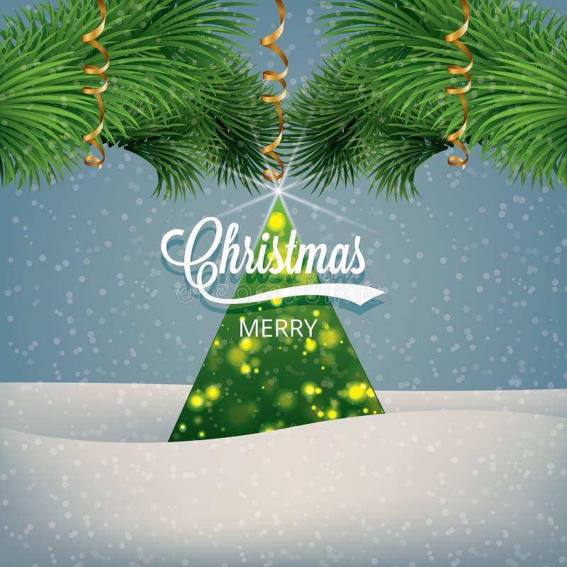 Natal e ano novo ilustração stock