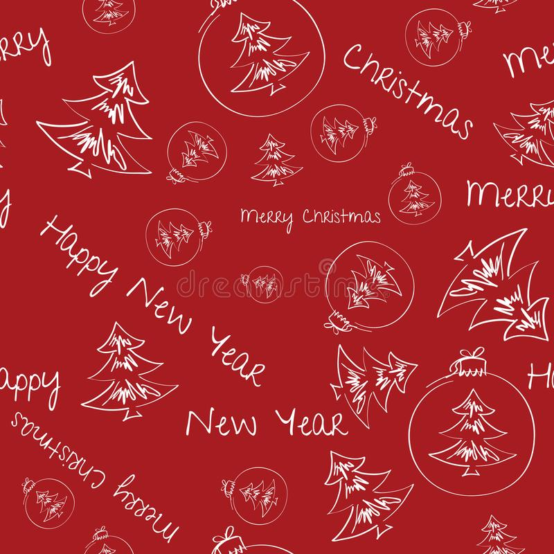 Natal e ano novo Cartão do movimento foto de stock