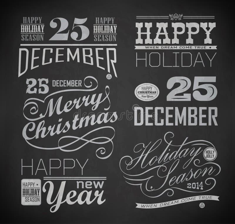 Natal e ano novo feliz ilustração royalty free
