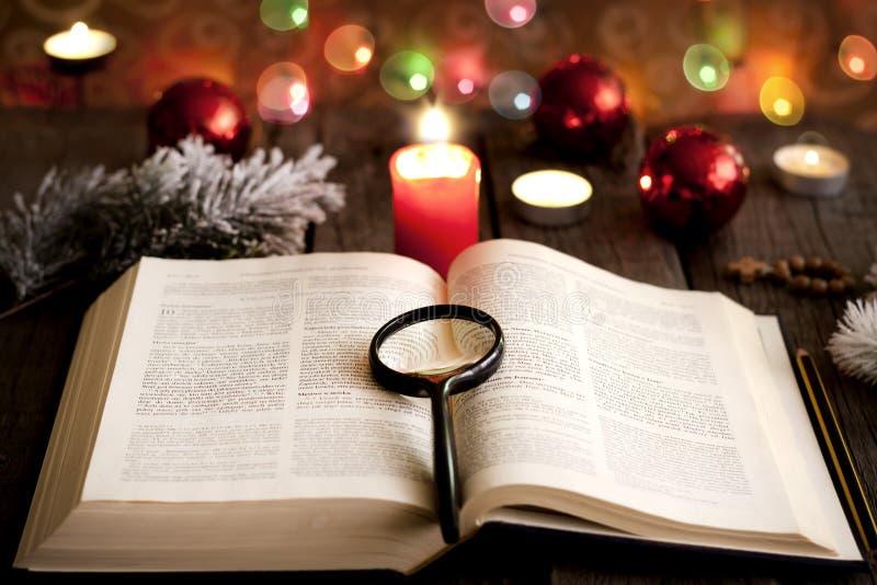 Natal e Bíblia fotos de stock royalty free