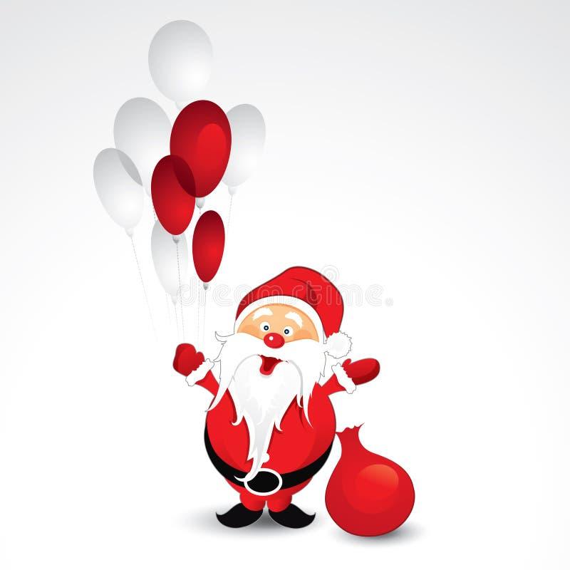 Natal e balões do pai ilustração stock