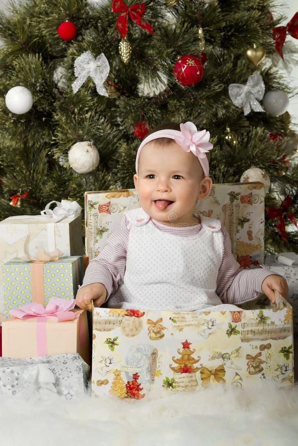Natal e bebê foto de stock