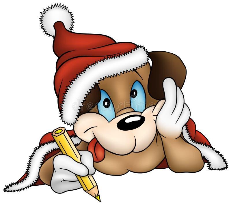 Natal e cão de filhote de cachorro ilustração royalty free
