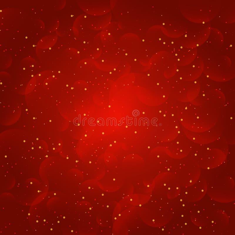 Natal e luz abstratos do bokeh do ano novo ilustração do vetor