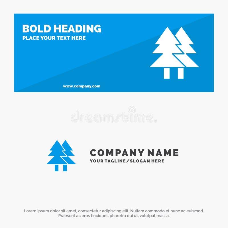 Natal, Eco, ambiente, verde, bandeira contínua alegre do Web site do ícone e negócio Logo Template ilustração royalty free