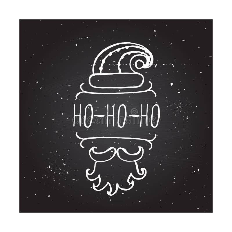 Natal - elemento tipográfico ilustração stock