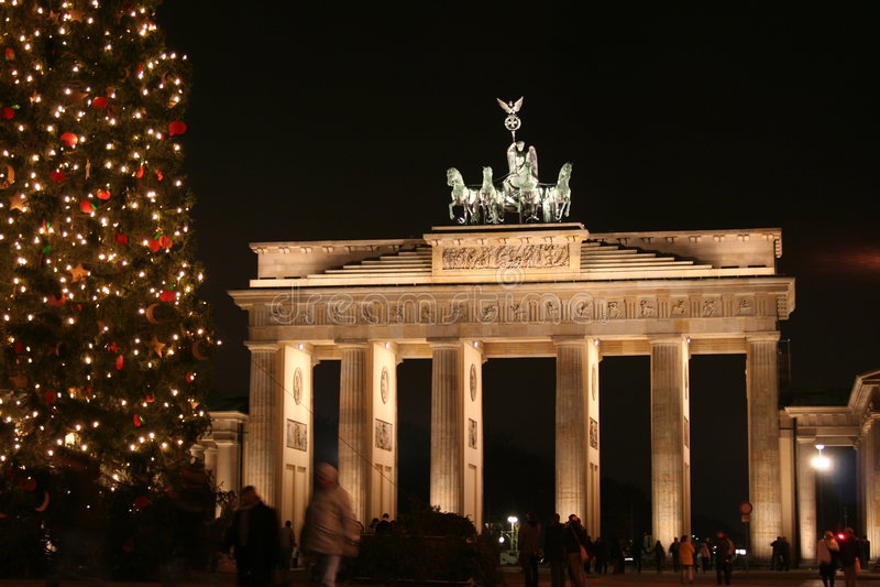 Natal em Berlim foto de stock