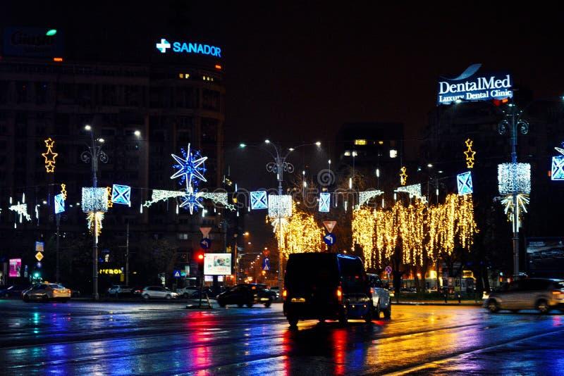 Natal em Bucareste fotos de stock