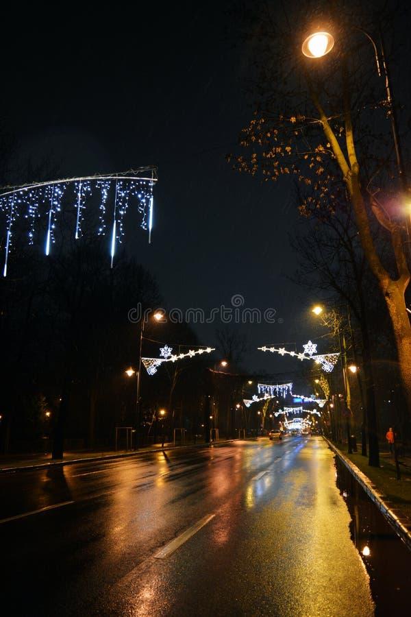 Natal em Bucareste imagens de stock royalty free