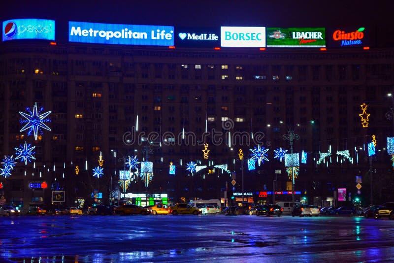 Natal em Bucareste imagem de stock royalty free