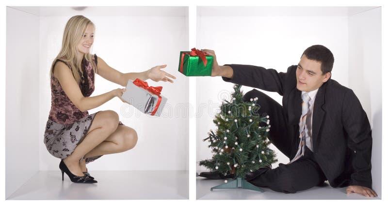 Natal em cubos do negócio fotos de stock royalty free