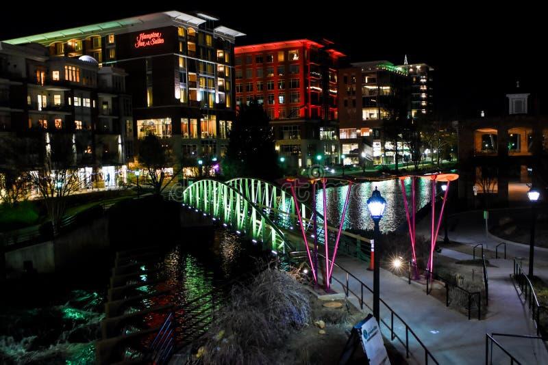 Natal em Greenville, SC fotos de stock