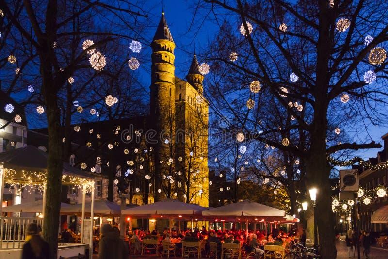 Natal em Maastricht fotos de stock royalty free