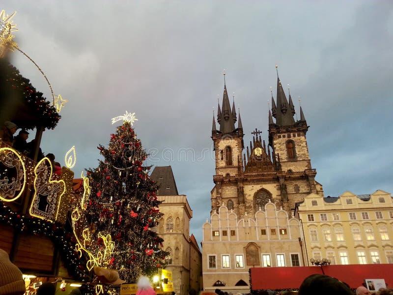 Natal em Praga fotografia de stock