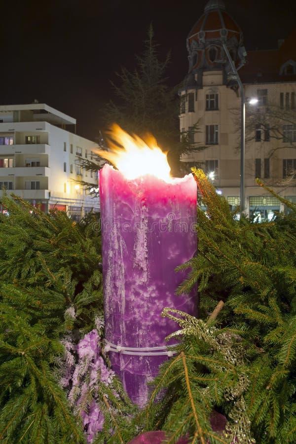 Natal em Szeged foto de stock