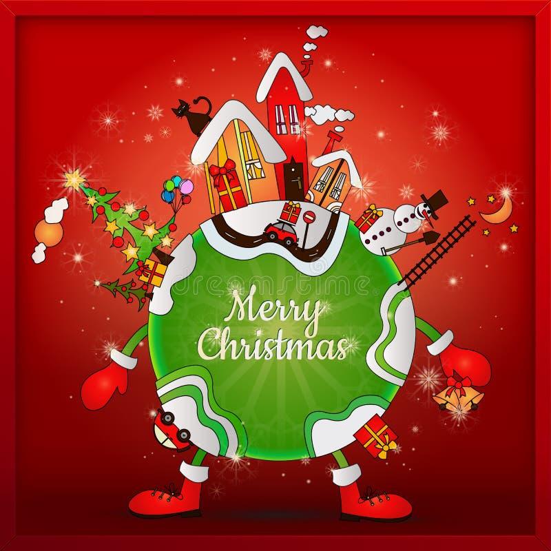 Natal em todo o mundo ilustração stock