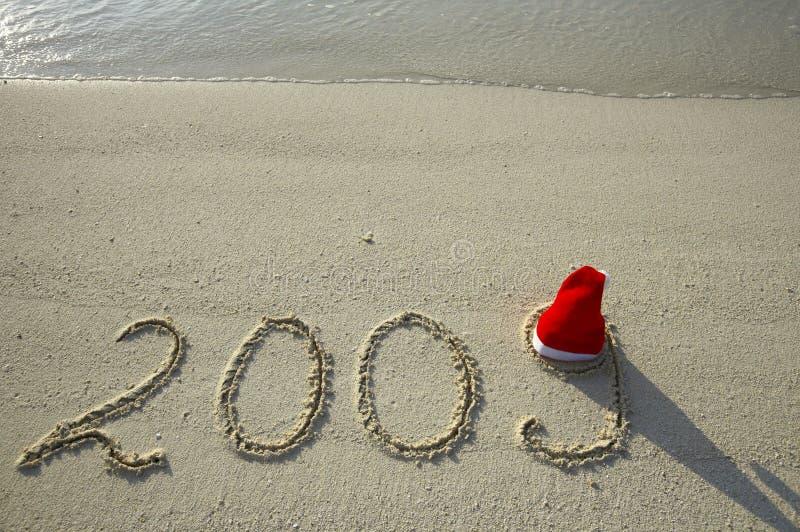 Natal em uma praia fotografia de stock royalty free
