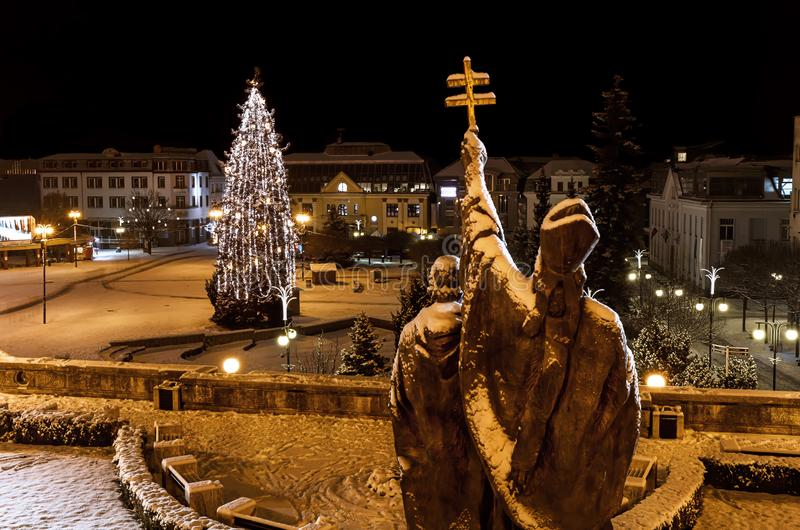 Natal em Zilina - república eslovaca foto de stock royalty free