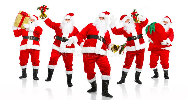Natal feliz Santa. imagem de stock