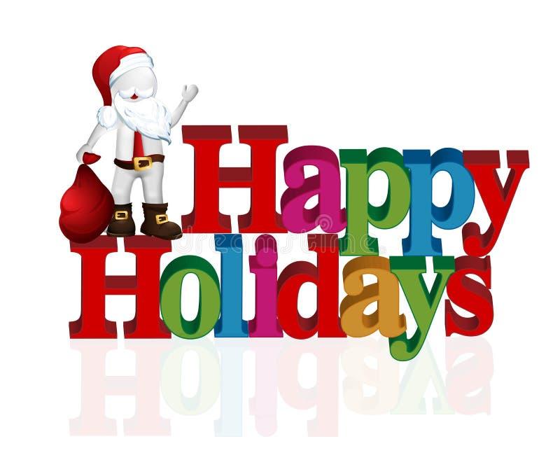 Natal feliz Santa ilustração royalty free