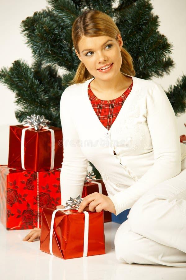 Natal Gril imagem de stock