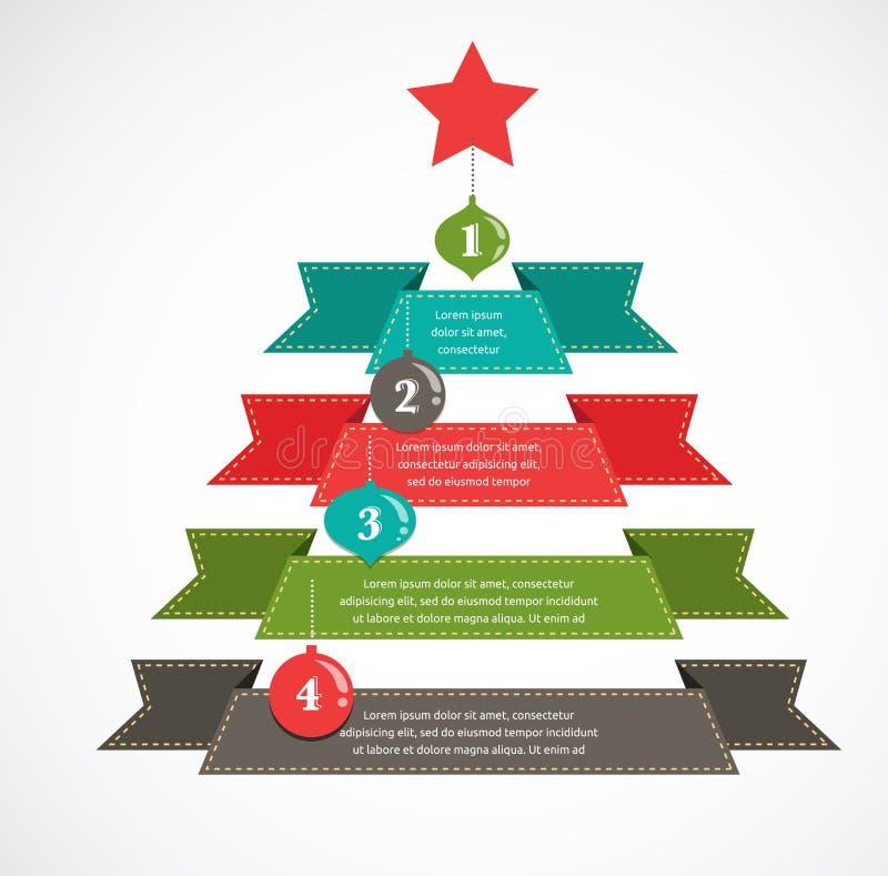 Natal infographic ilustração stock