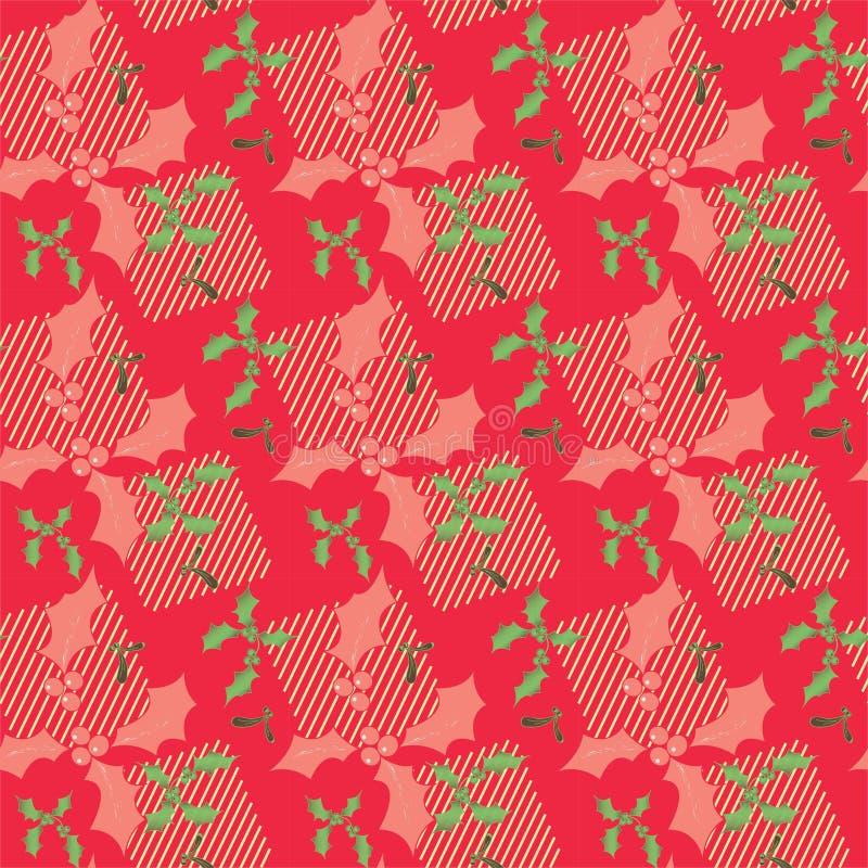 Natal Joy Gift Wrap Seamless Pattern, Excelente para Background, Wallpapers, Malhas, Molduras e muitos outros designs ilustração do vetor