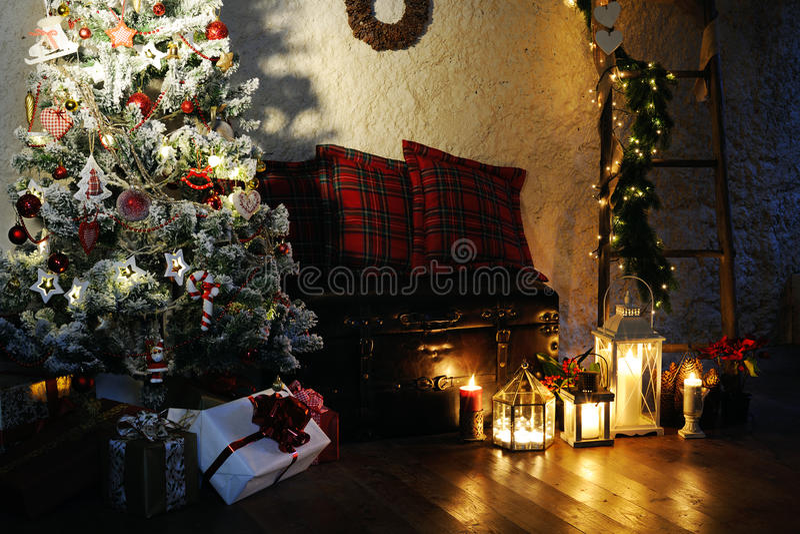 Natal mágico fotos de stock