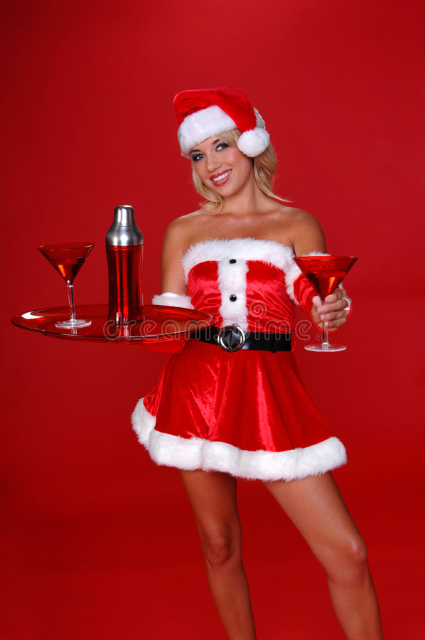 Natal Martini imagem de stock royalty free