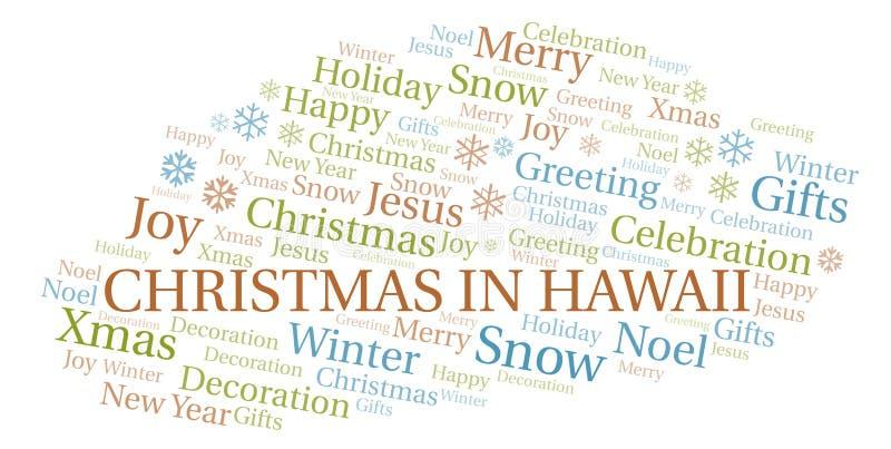 Natal na nuvem da palavra de Havaí ilustração stock