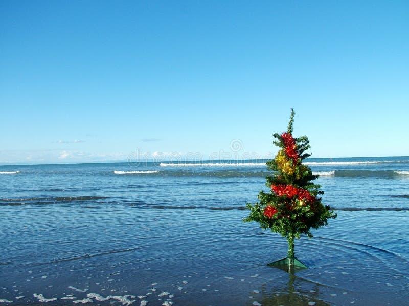 Natal na praia imagem de stock