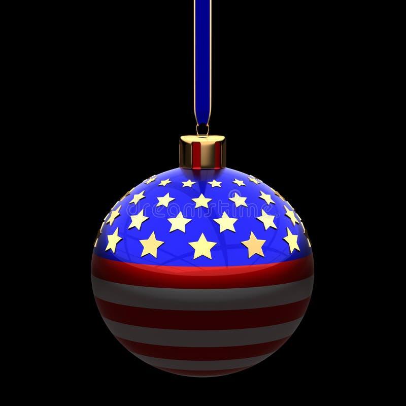 Natal no conceito de América ilustração do vetor