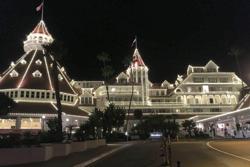 Natal no del Coronado do hotel imagem de stock royalty free
