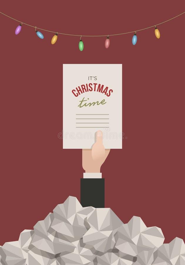Natal no escritório ilustração royalty free