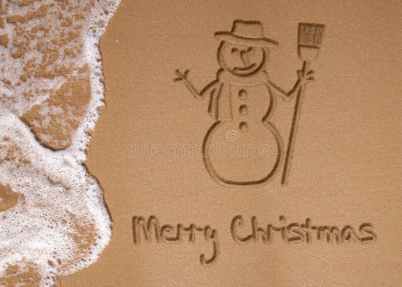 Natal no verão ilustração royalty free
