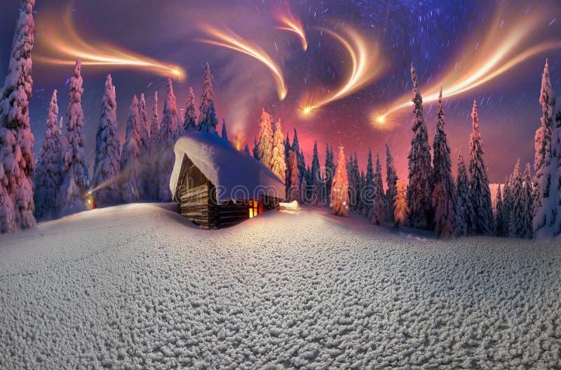 Natal nos Carpathians ilustração do vetor