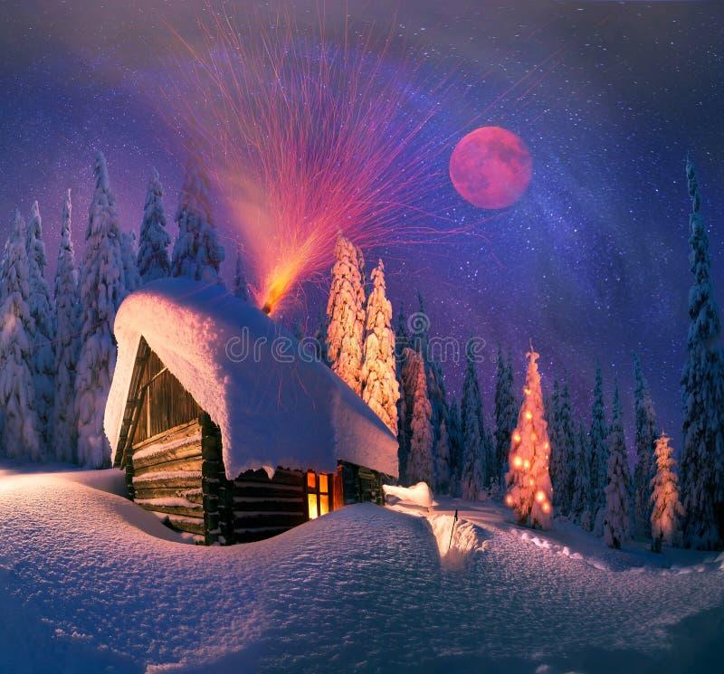 Natal nos Carpathians ilustração stock