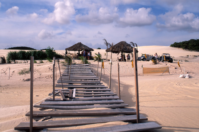 Natal Oasis. A watering hole surrounded by sand dunes near Natal, Brazil royalty free stock photo